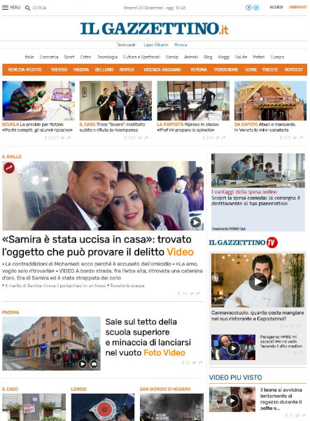 gazzettino homepage 2019